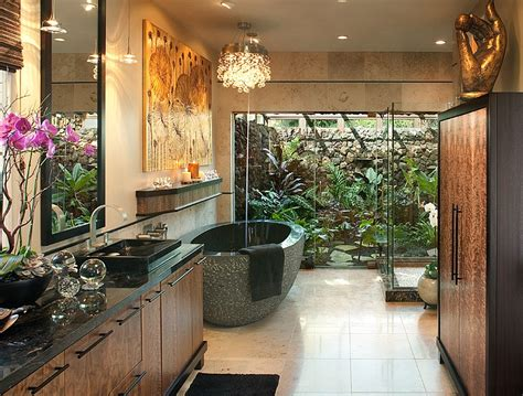 Luxury Spa Bathrooms by Luxurious Bathroom Combines Privacy With A View Of The