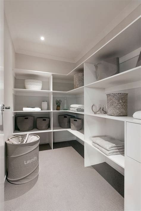 Linen Cupboard Organisation by Walk In Linen Cupboard With Room For Vac And Drawers For