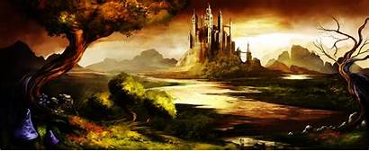 Castle Trine Wallpapers Awesome Desktop Stunning Fantasy