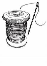 Needle Thread Drawing Sewing Drawings Sketch Spool Whatkatiedidnext Typepad Line Graphics Coloring Sketches Spools Crafts Embracing Tablet Technology Did Help sketch template