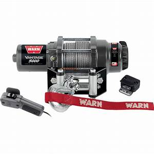 Warn Vantage 3000 Series 12 Volt Dc Powered Electric Atv Winch  U2014 3000 Lb  Capacity  Steel Wire