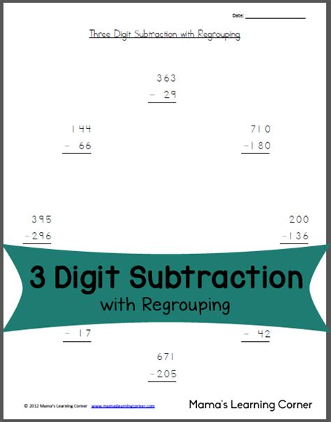 soft school subtraction with regrouping worksheets