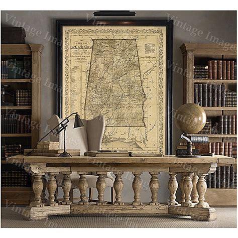 buy alabama map antique map  alabama antique restoration