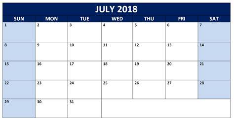 2018 word calendar july 2018 calendar printable calendar 2018 printable