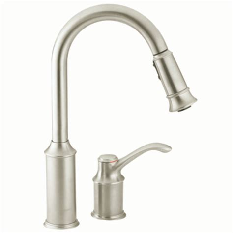 kitchens faucet moen 7590csl aberdeen one handle high arc pulldown kitchen