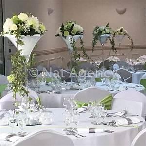 Decoration De Table Pour Mariage : decoration table ronde mariage vase martini ~ Teatrodelosmanantiales.com Idées de Décoration