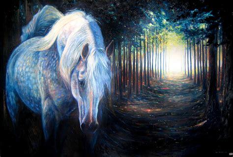 hiding unicorn painting  gill bustamante