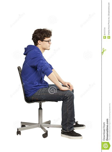 Sitting Chair by Student Sitting On Chair Relaxed Stock Photo Image Of