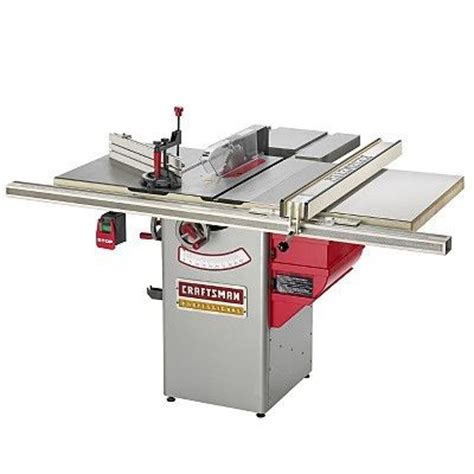 craftsman professional cabinet saw review craftsman professional 10 quot hybrid table saw by