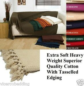 large throws for settees large size 100 cotton woven sofa bed throw blanket