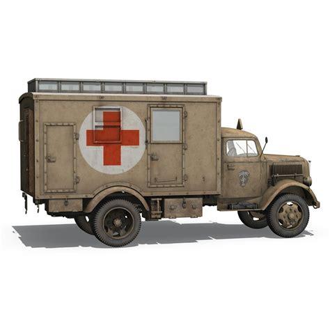 Opel Truck by Opel Blitz 3t Ambulance Truck 21 Pzdiv 3d Model Buy