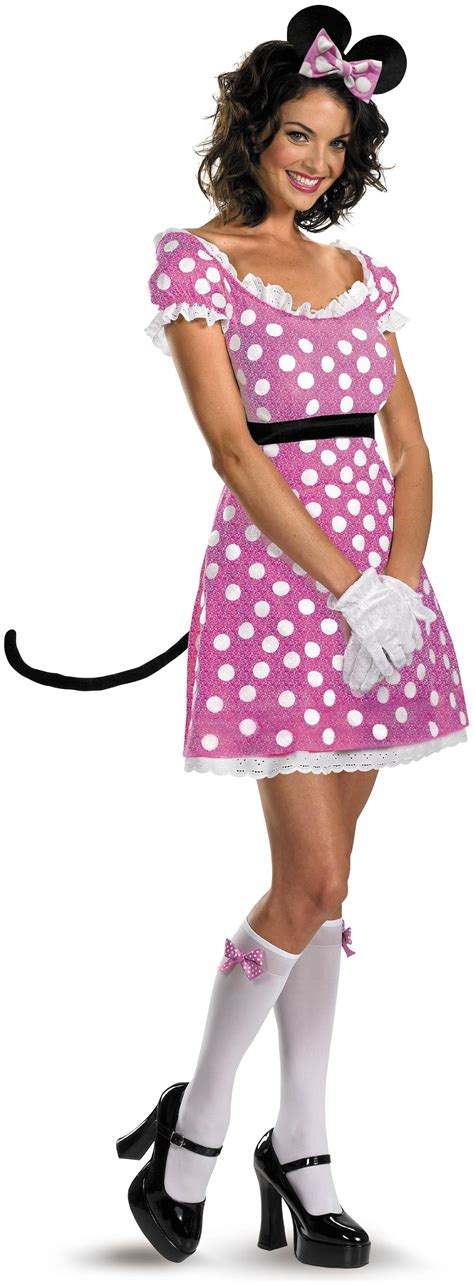 sexy pink minnie mouse adult costume partybellcom