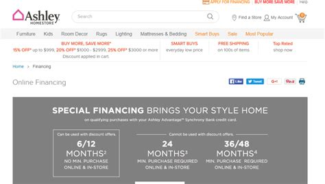 furniture login synchrony financial credit card payment mailing address