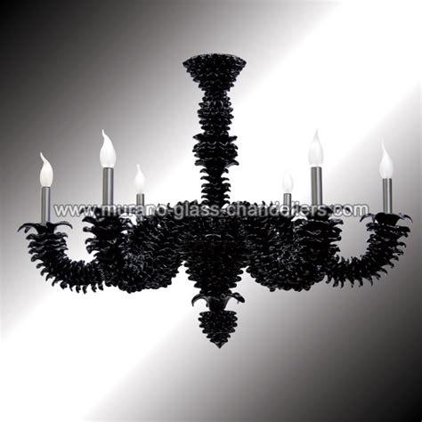 quot narciso quot black murano glass chandelier murano glass