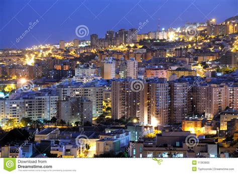 Santa Cruz De Tenerife At Dusk Stock Photo - Image of ...