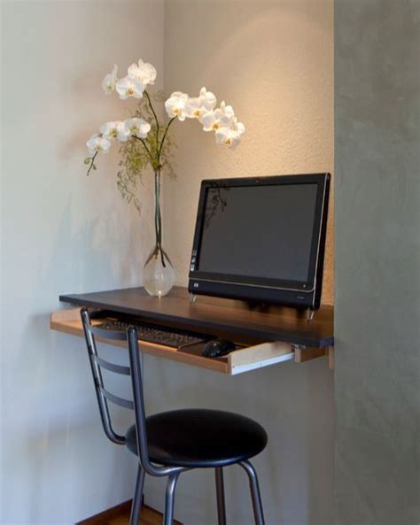 computer table for small spaces computer desk nook studio small space diy modern office