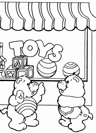 Coloring Toys Pages Care Bears Toy Drawing