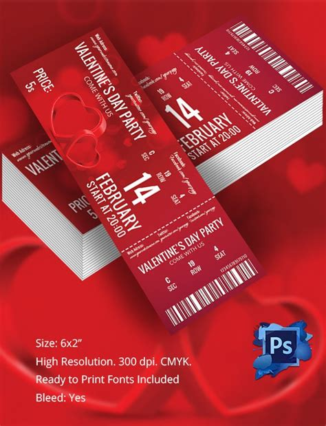ticket template   word excel  psd eps