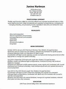 legal secretary resume template best design tips With legal assistant resume template