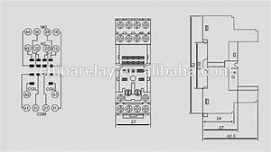 Rt704-b 14 Pins Relay Base For My4 55 04 57 04 Jqx-13f