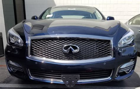 infiniti ql removable front license plate bracket