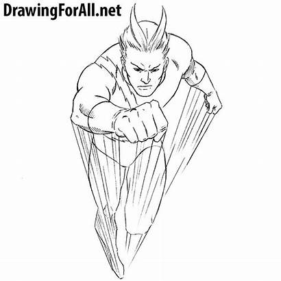 Draw Quicksilver Drawing Scarlet Spider Drawingforall Step