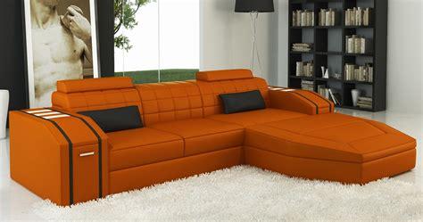canape d angle orange deco in canape d angle cuir design orange et noir