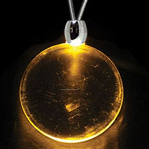 dollar sign light up pendant necklace yellow orange