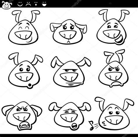 Emoticons Kleurplaten Cat by Hond Emoticons Kleurplaat Stockvector
