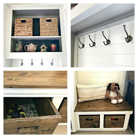 diy mudroom bench   cabinets abbotts  home