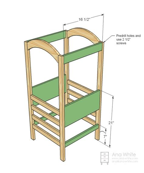 ana white build    helper tower   easy diy project  furniture plans