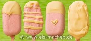 Erdbeereis Selbst Machen : eis rezept kleene leene erdbeereis am stiel mit wei er schokolade ~ Yasmunasinghe.com Haus und Dekorationen