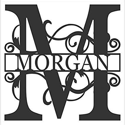 library  vinyl  monogram initial picture  stock png files clipart art