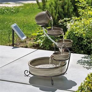 Solar Springbrunnen Garten : solar kaskadenbrunnen mit akku led springbrunnen ~ A.2002-acura-tl-radio.info Haus und Dekorationen