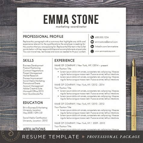 Professional Resume Designs Free by Best 25 Professional Resume Design Ideas On