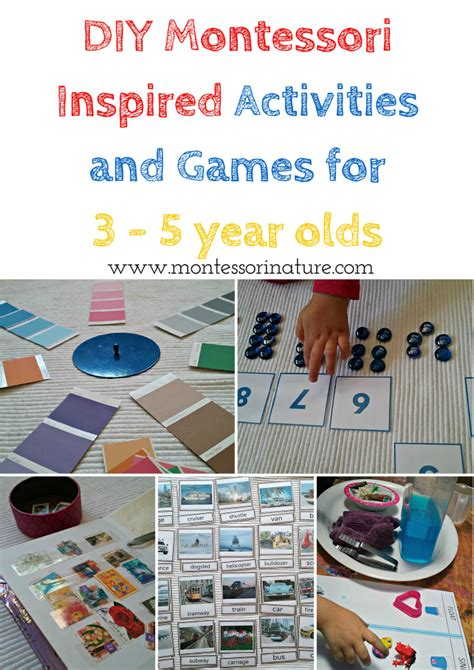diy montessori inspired activities and for 3 5 668 | DIYMontessoriInspiredActivitiesandGamesfor3 5yearolds. 1