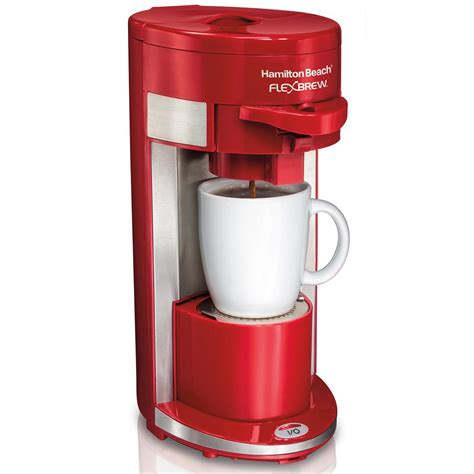 This tiny machine is not only powerful, but its also efficient, easy to operate, and produces. Hamilton Beach FlexBrew® Coffee Maker Single-Serve, Red ...