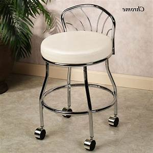 Bathroom vanity chairs chrome post taged with vanity for Vanity chair for bathroom with wheels