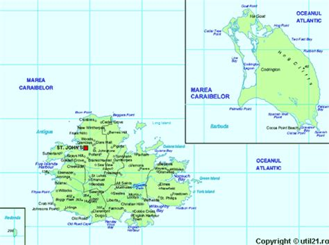map  antigua  barbuda maps worl atlas antigua