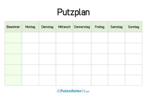 Putzplan Für Die Wohnung putzplan vorlage 8 putzpl 228 ne f 252 r paare wgs singles