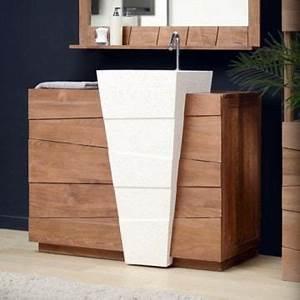 meuble de salle de bain en teck tek vasque sur achat With salle de bain design avec meuble vasque sur pied salle de bain