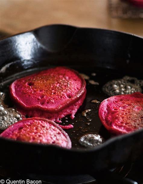 site recette cuisine pancakes de quinoa à la betterave pour 4 personnes