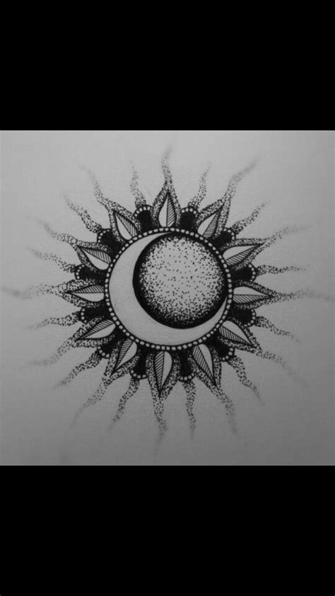 Sun and moon   coloring pages   Sun tattoos, Tattoos, Moon sun tattoo