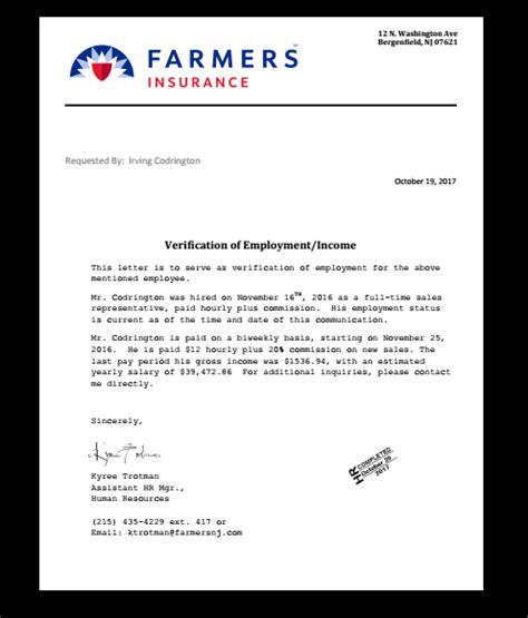 job verification letter income job employment proof