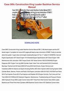 Case 580c Construction King Loader Backhoe Se By