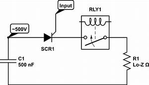 handling high pulse current through relay contacts With electric eye relay