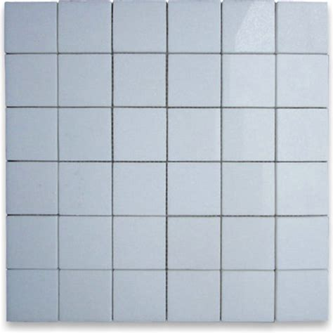 thassos white 2 x 2 square mosaic tile polished marble