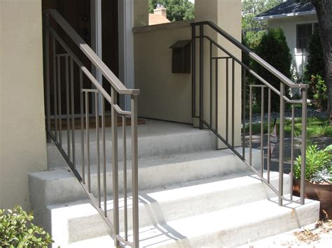 Bring us your ideas and allow us to help design and handcraft an iron railing just for you! Exterior Step Railings - O'Brien Ornamental Iron