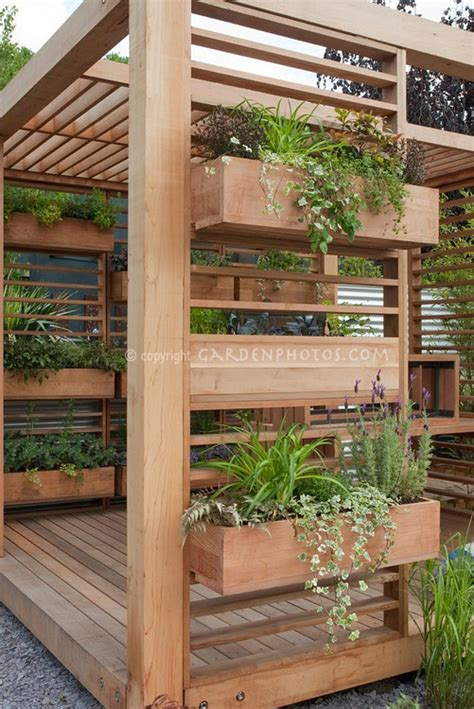 deck gardening containers creating a backyard oasis