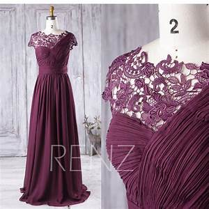 plum bridesmaid dress long one shoulder chiffon wedding With plum dresses for weddings